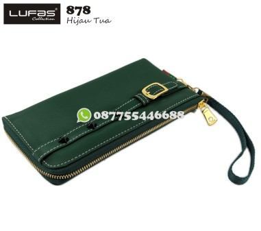 dompet lufas 878 hijau tua